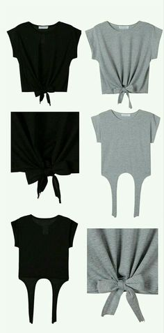 Old Tee Shirts, Cut Up Shirts, Cutting Shirts, Ripped Shirts, Latest Fashion Clothes, Diy Fashion, Fashion Outfits, Fashion Ideas, Fashion Shirts