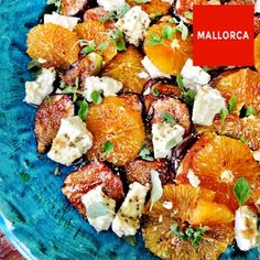 Caramelized fig, orange and goat's cheese salad.
