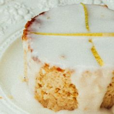 I Quit Sugar - Lemon Cake with Lemon Sauce