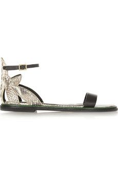 See by Chloé Snake-effect leather sandals | NET-A-PORTER
