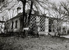 The Sunday porch-enclos*ure, French Legation, Austin TX, 1934,via Library of Congress.