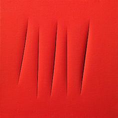 Lucio Fontana (Rosario 1899-1968 Varese) Concetto spaziale, Attese Water-based paint on canvas 60 x 60 cm Signed 'l. Fontana / ATTESE / Concetto Spaziale / Motta / fa un po sic] schifo' 1964 To be exhibited at #TEFAF2016 (11-20 March 2016) #Modern by Tornabuoni Art.
