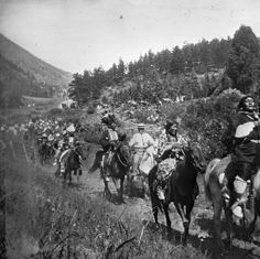 Marking of the ~ Ute Pass Trail ~ Near Manitou Springs Colorado ~ 1912