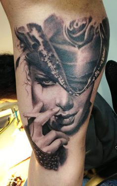 Realism Woman Tattoo by John Maxx