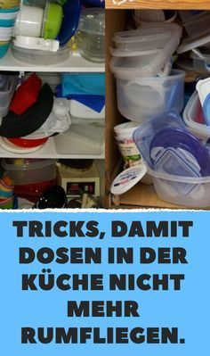 Tricks, damit Dosen in der Küche nicht mehr rumfliegen.