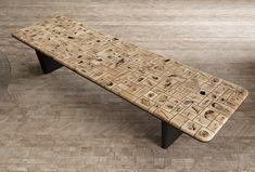 End Grain: обеденный стол и текстурированный штучный паркет от дизайнера Даниэля Навота | Admagazine | AD Magazine