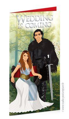 Faire-part de mariage original affiche cinéma Game of thrones - save the date…