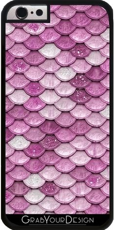GrabYourDesign - Case for Iphone 6/6S Light Pink sparkling scales - by UtArt