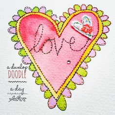 Paper and Stitch Love Heart, day 2