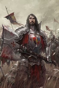*Aros Isold, human, protector knight, two hand axe specialist. Defender of…