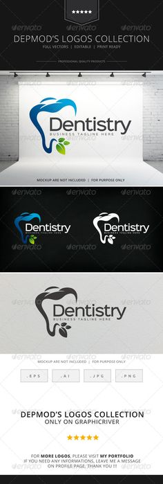 Dentistry  - Logo Design Template Vector #logotype Download it here: http://graphicriver.net/item/dentistry-logo/8522645?s_rank=1734?ref=nexion