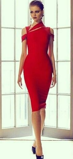 red cocktail dress that could work for pageant interview.