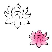 Love the Lotus flower outline, minus the pink. Flower Outline Tattoo, Small Lotus Flower Tattoo, Lotus Flower Design, Lotus Tattoo, Flower Tattoo Designs, Lotus Flowers, Lotus Outline, Pink Lotus, Trendy Tattoos