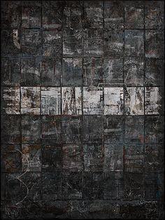 Adrian Lane: Reflected II Mixed Media on Board 30cm x 40cm