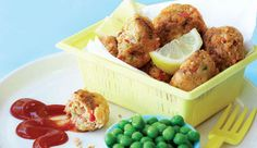 Serve these fishcakes with peas and roasted potato, or sweet potato wedges and salad, to up the count. Fish Recipes, My Recipes, Low Carb Recipes, Baking Recipes, Snack Recipes, Snacks, Tuna Fish Cakes, Toddler Lunches, Toddler Food