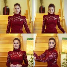 Dark Red Dresses, Sexy Dresses, Turkish Actors, Woman Crush, Beautiful Actresses, Lady In Red, Celebs, Glamour, Model