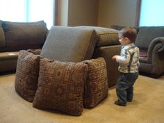 Life, Liberty and the Pursuit of Happiness: Pillow Fort Pillow Forts, Baby Play, Living Room Furniture, Liberty, Ottoman, Happiness, Throw Pillows, Bed, Life