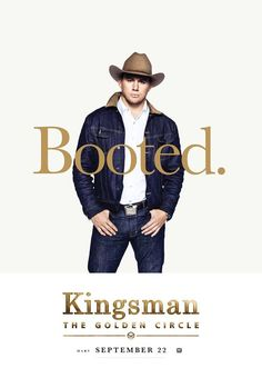 Channing Tatum as Tequila in the official character poster for Kingsman: The Golden Circle Kingsman Film, Watch Kingsman, Channing Tatum, Hd Movies Online, New Movies, Circle Movie, Kingsman The Golden Circle, Matthew Vaughn, Man 2