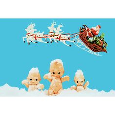 kewpie christmas print aceo size Baby IT'S COLD by boopsiedaisy