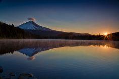 Trillium Lake at Sunrise