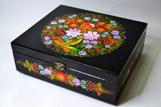 Wooden Box  Casket Hand painted Ukrainian folk by IGORartPAINTING