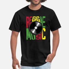 Roots Reggae Music Vinyl Men's T-Shirt Jamaican People, Reggae Music, Product Offering, Custom Clothes, Roots, Mens Tops, T Shirt, Ska, Supreme T Shirt