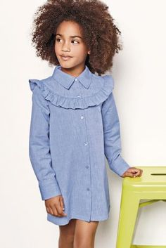 Buy Ruffle Shirt Dress (3-16yrs) online today at Next: United States of America