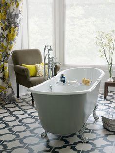 Heritage Bathrooms Porto Santo Bateau bath. - For the ultimate master bathroom design, splurge on an elegant Porto Santo Bateau bath to create a hotel at home feel.