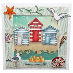 """This Card was made by Sally Dodger using the new """"Summer Holiday"""" stamp set designed by Sharon Bennett for Hobby Art Stamps."""