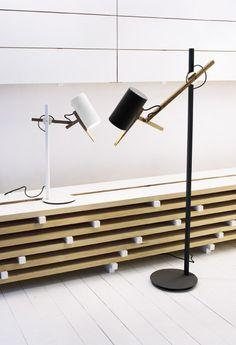 Marset - Scantling floor lamp & table lamp by Mathias Hahn