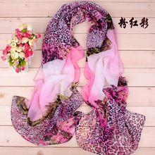 cachecol xale capa de seda chiffon tippet silenciador 2.014 novos Cachecóis de design de impressão cachecol leopardo das mulheres(China (Mainland))