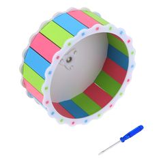 Colorful Hamster Mouse Rat Mice Exercise Running Spinner Wheel Pet Sports Wheel Roller Toy Dia 19cm