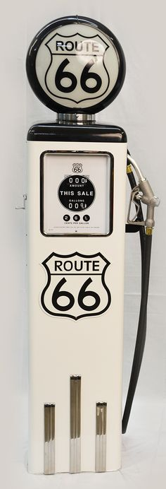 8 Ball Electric Pump - #Route66 (White) #gaspump #americana #collector #replica #carguy #garageart
