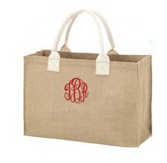 Burlap Tote Bag - Travel Bag - BeauJax Boutique Perfect and preppy to take along anywhere - our natural Burlap Monogrammed Tote Bag is the ideal size for any of your every day toting needs! Our Burlap Monogrammed Tote is also perfect for your gifting needs such as at Christmas time! Just place your gift in their new monogrammed tote for a gift that is beyond personalized and so special! #burlap #totebags #monogrammedtotebags #travelaccessories #travelbag #holidayshopping #gifts #giftbagideas