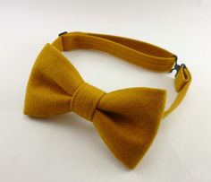 Mens bow tie - pre tied adjustable gold faux suede bowtie - golden vegan suede bow ties for men by StrangelyEverAfter on Etsy https://www.etsy.com/listing/205851362/mens-bow-tie-pre-tied-adjustable-gold