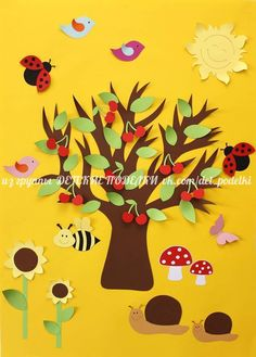 spring tree crafts and activities Leaf Crafts, Tree Crafts, Diy And Crafts, Arts And Crafts, Easter Craft Activities, Easter Crafts For Kids, Art Activities, Autumn Leaves Craft, Nursery Wall Murals