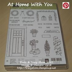 At Home With You Stamp Set from the Stampin' Up 2017/2018 Annual Catalogue.  http://tracyelsom.stampinup.net
