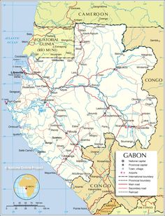 Map of Gabon