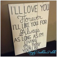 Mother to daughter sign I'll love you by SimplySouthernPallet