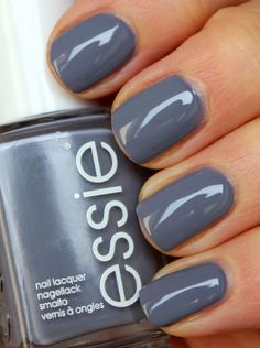 Essie Petal Pushers - This is IT.  I finally found my suitable grey!  Amen! Nail Design, Nail Art, Nail Salon, Irvine, Newport Beach