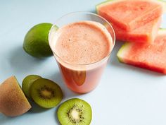 Kiwi-Watermelon-Lime Juice: Kiwis are an under-appreciated fruit, but the sweet flesh beneath that fuzzy skin is packed with vitamin C.
