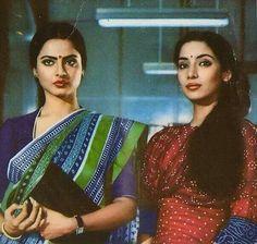 Cinema ©: Rekha and Shabana Azmi Bollywood Posters, Bollywood Cinema, Bollywood Actors, Rekha Actress, Old Actress, Best Actress, Vintage Bollywood, Indian Bollywood, Indian Actresses