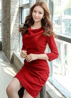 Korean Women`s Fashion Shopping Mall, Styleonme. Pretty Asian, Beautiful Asian Women, Korea Fashion, Asian Fashion, Fashion Models, Fashion Outfits, Women's Fashion, Shirred Dress, Romantic Outfit