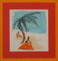 """""""Lanvin Poodle Under Palm Tree"""""""