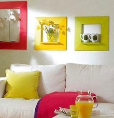 Ideia de quadro/prateleira DIY - Google