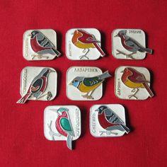 Vintage Birds Pins, Bird Lapel Pin, Birds Charms, Birds Pin Brooch, Small Metal Birds https://www.etsy.com/shop/MyBootSale