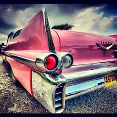 Pink Caddy- hot hot hot! Would live to own this car