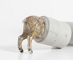 Bookend Paperweight Sculpture Animal Farm - Donkey van Altrosguardo handmade voor thuis op DaWanda.com