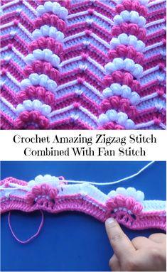 zigzag stitch combined with fan stitch