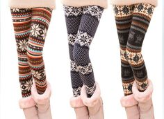 Leggings TightsWarm Nordic Christmas Style Leggings by longkoo